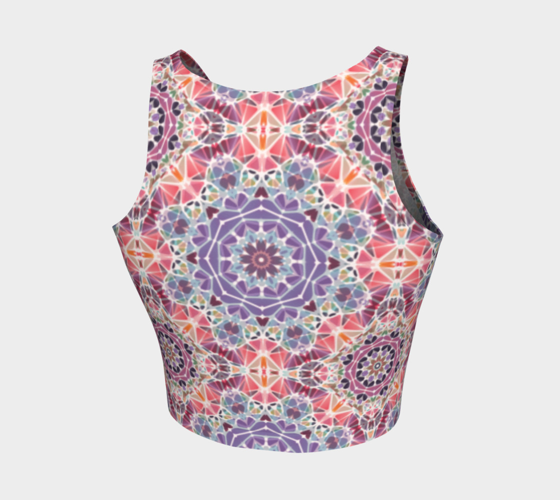 Purple and Pink Kaleidoscope Athletic Crop Top preview #2