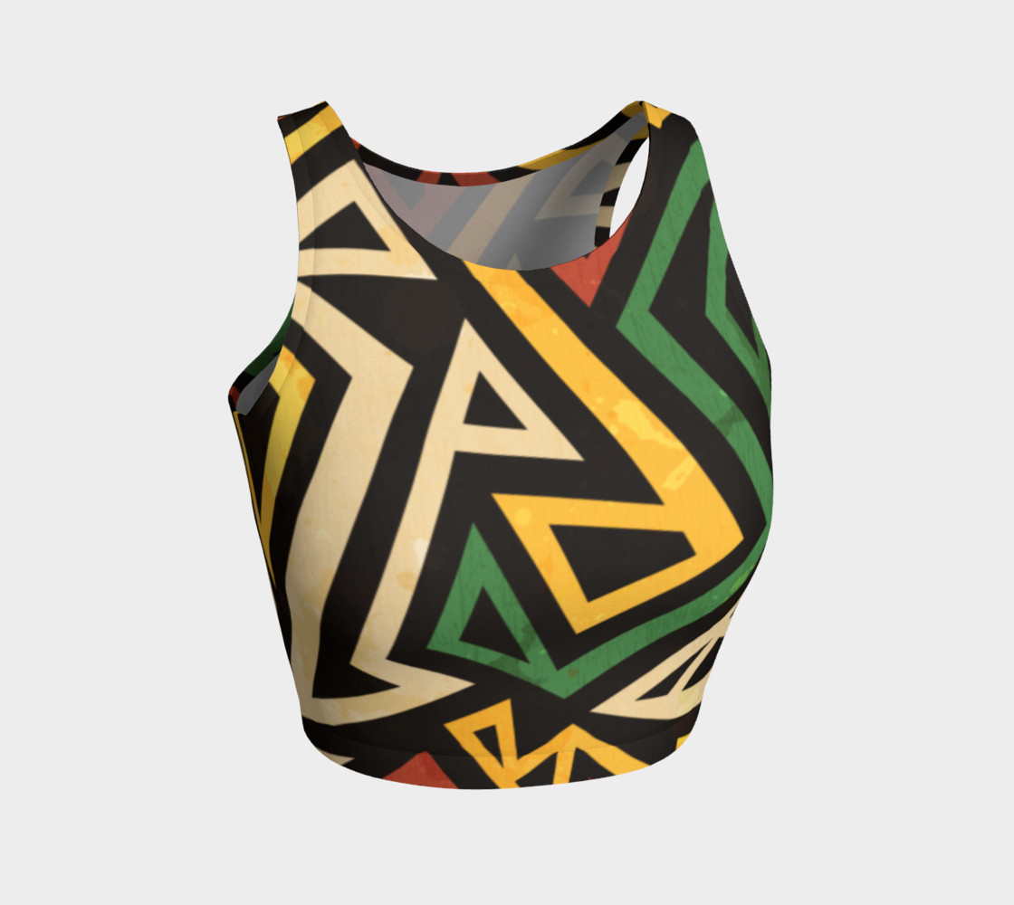 African Geometric crop top (print by Gudinny) preview #1