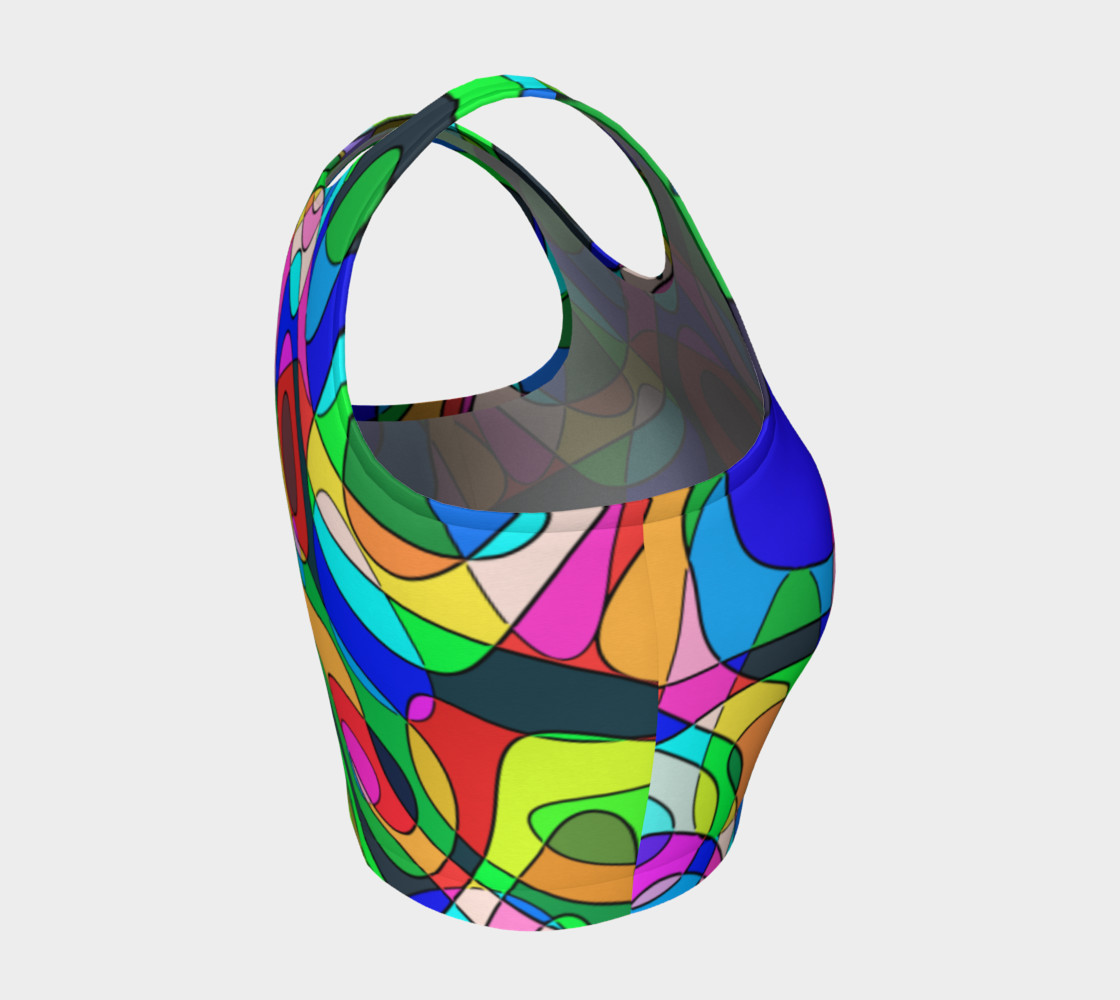 Modern POP ART Squiggly Loops multicolored preview #4