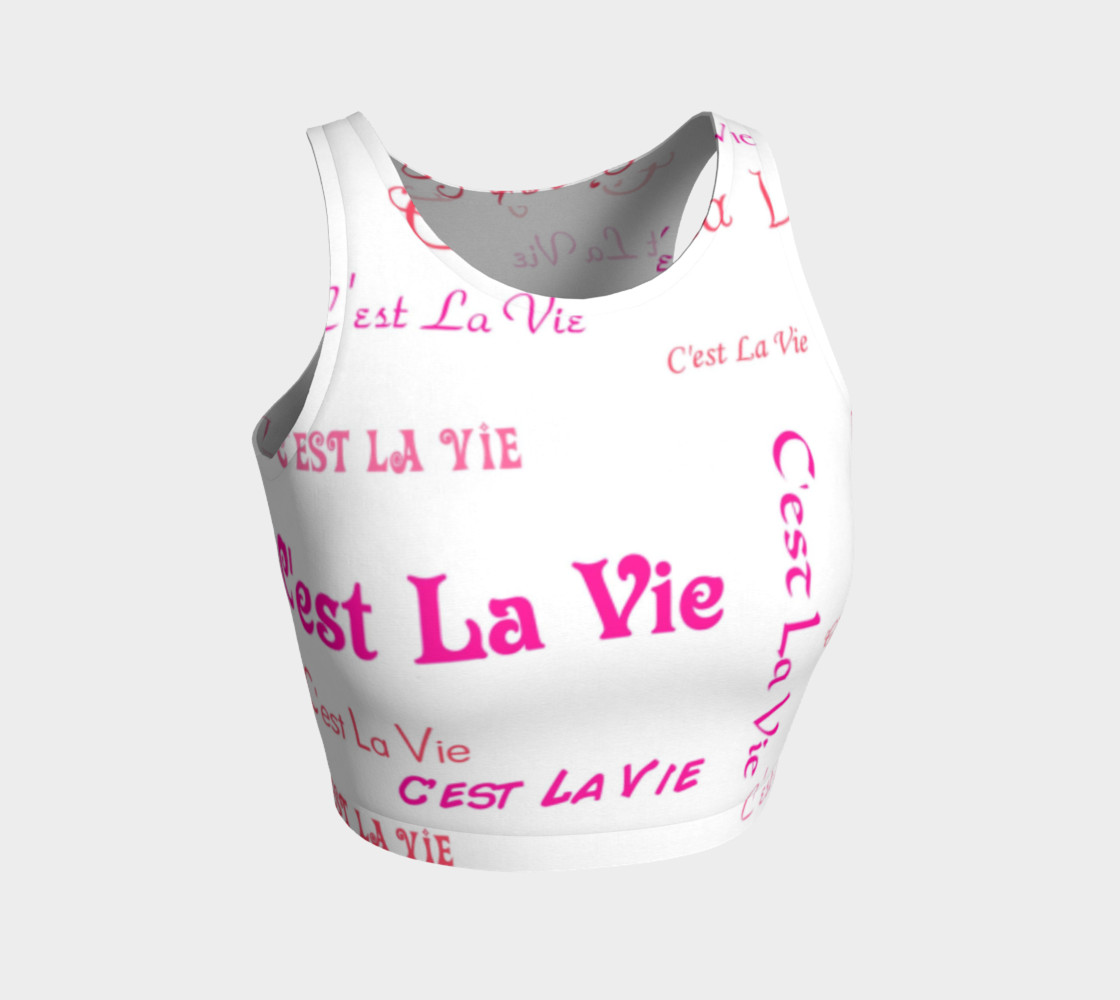Fuchsia C'est La Vie Crop Top preview #1