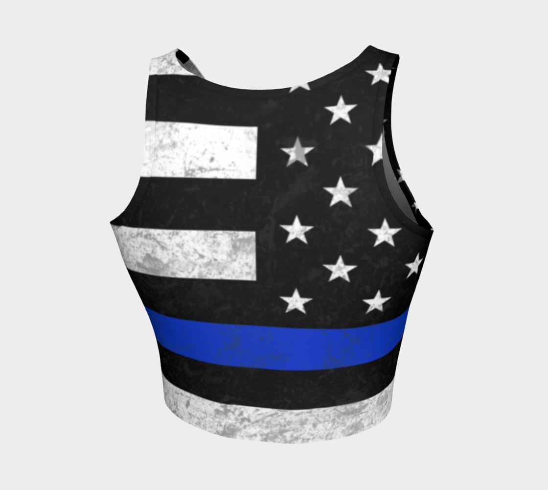 Thin Blue Line Athletic Crop Top preview #2