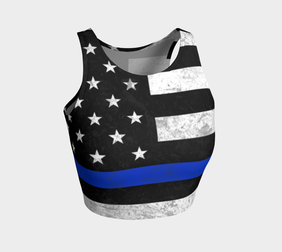 Thin Blue Line Athletic Crop Top preview #1