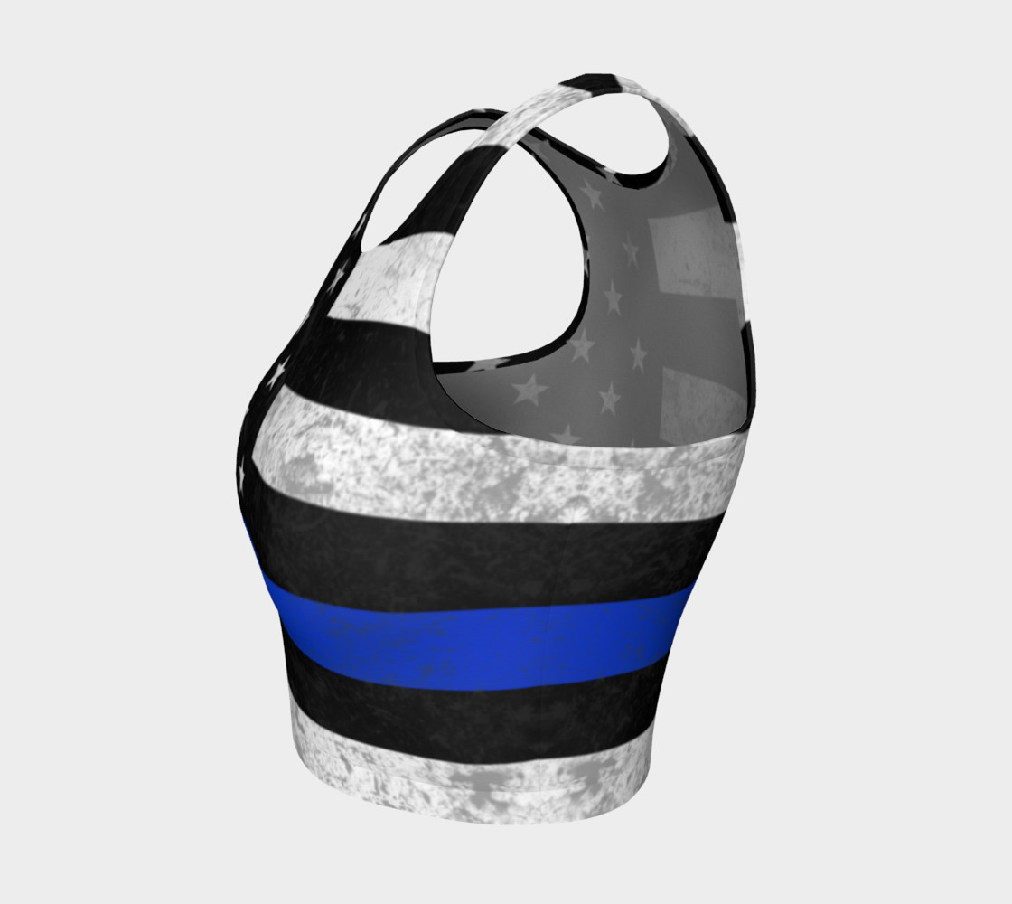 Thin Blue Line Athletic Crop Top preview #3