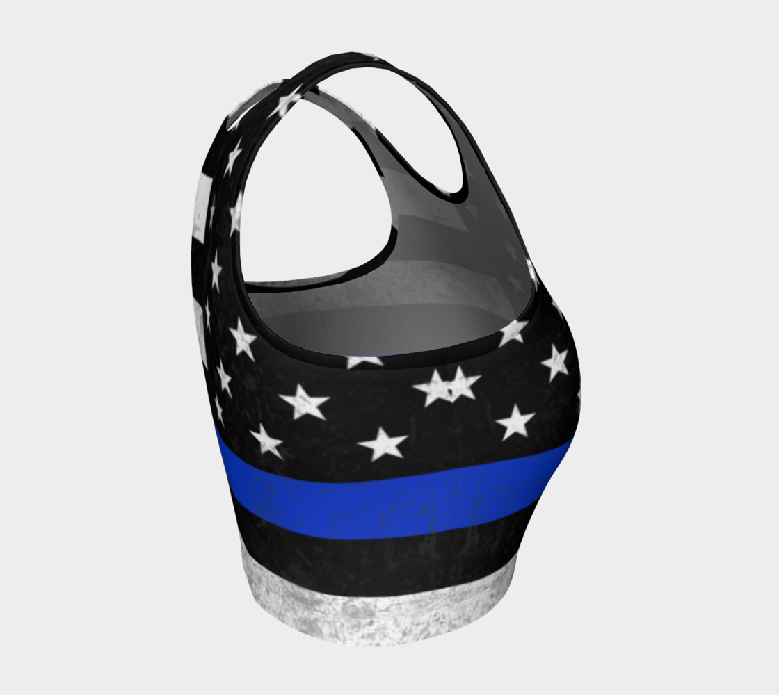 Thin Blue Line Athletic Crop Top preview #4