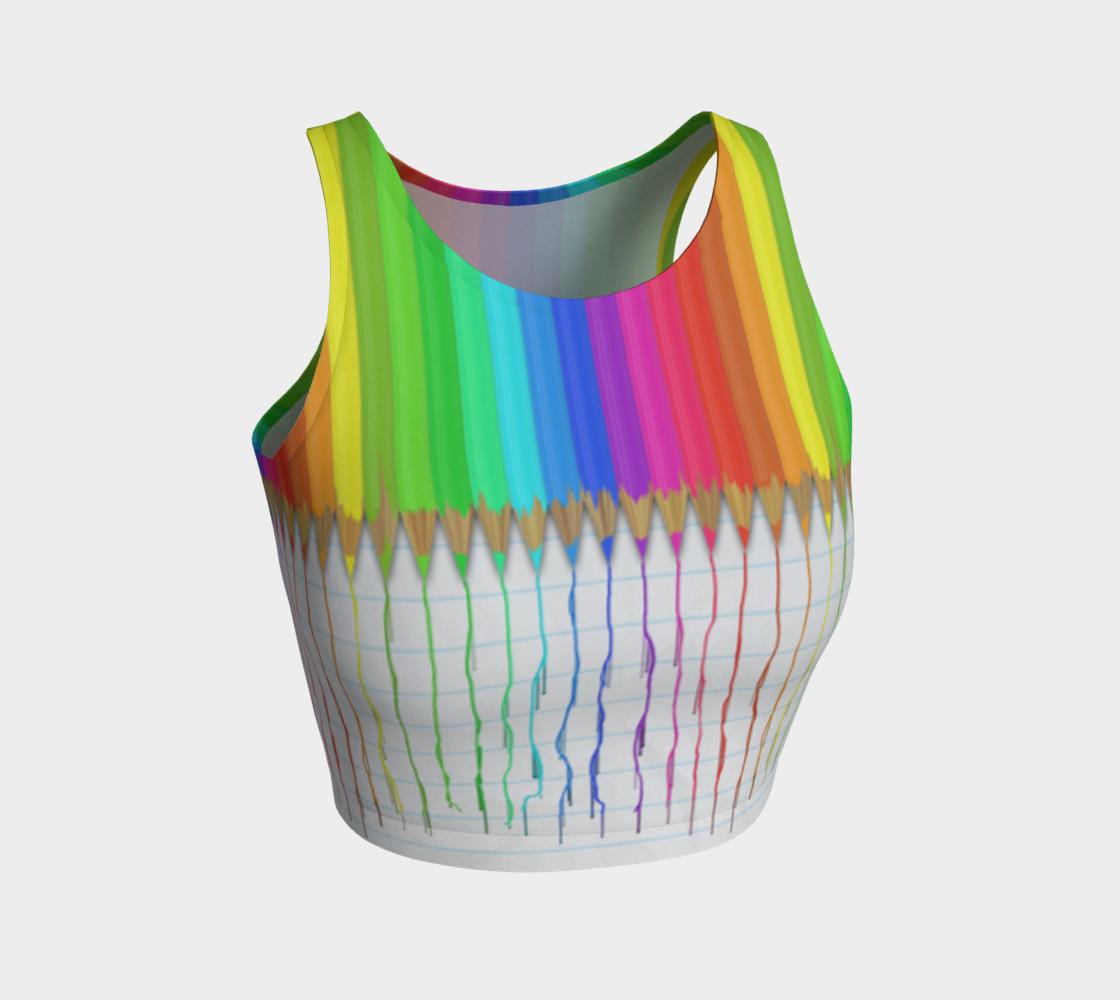 Aperçu de Melting Rainbow Pencils Crop Top #1
