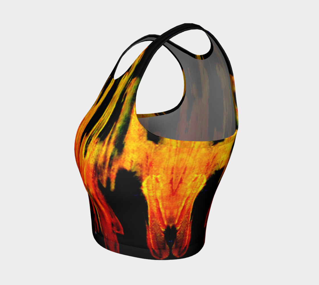 Lava in Black and Orange Crop Top preview #3