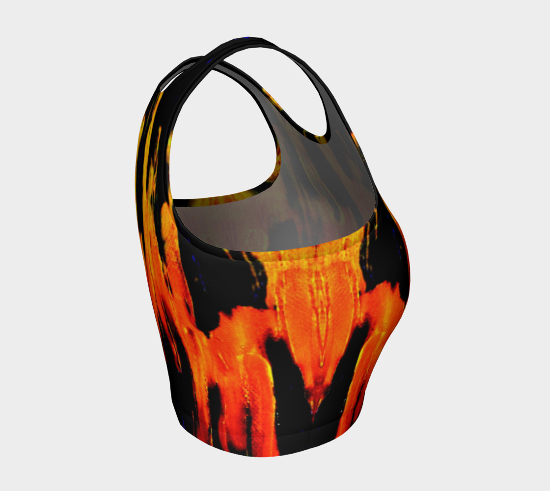 Lava in Black and Orange Crop Top preview #4