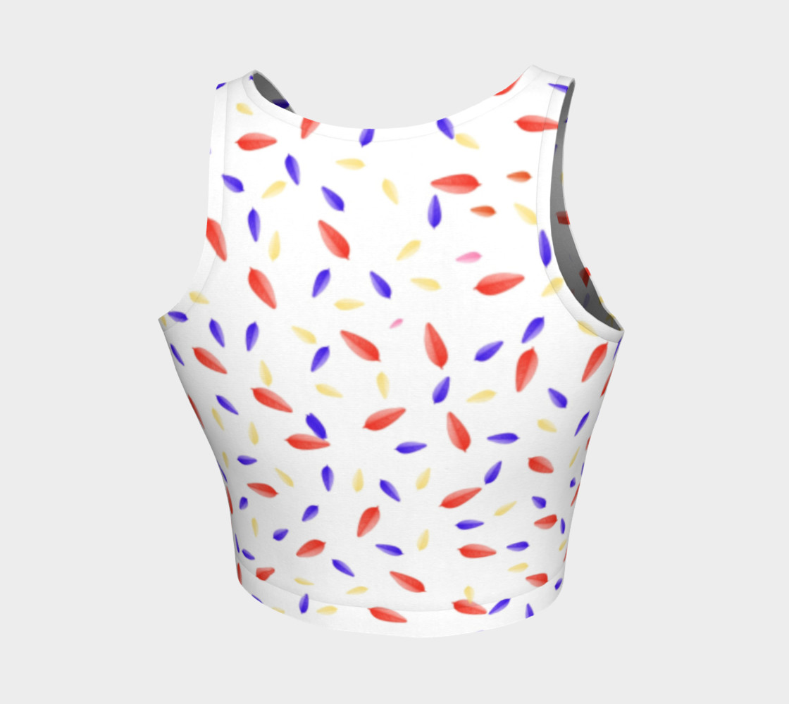 Multi-Colored Leaves Crop Top preview #2