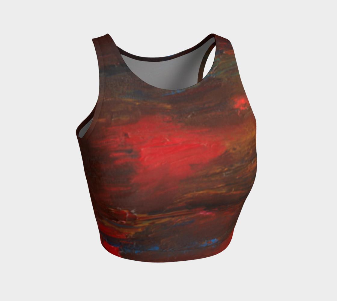 Crimson Ocean Crop Top preview #1