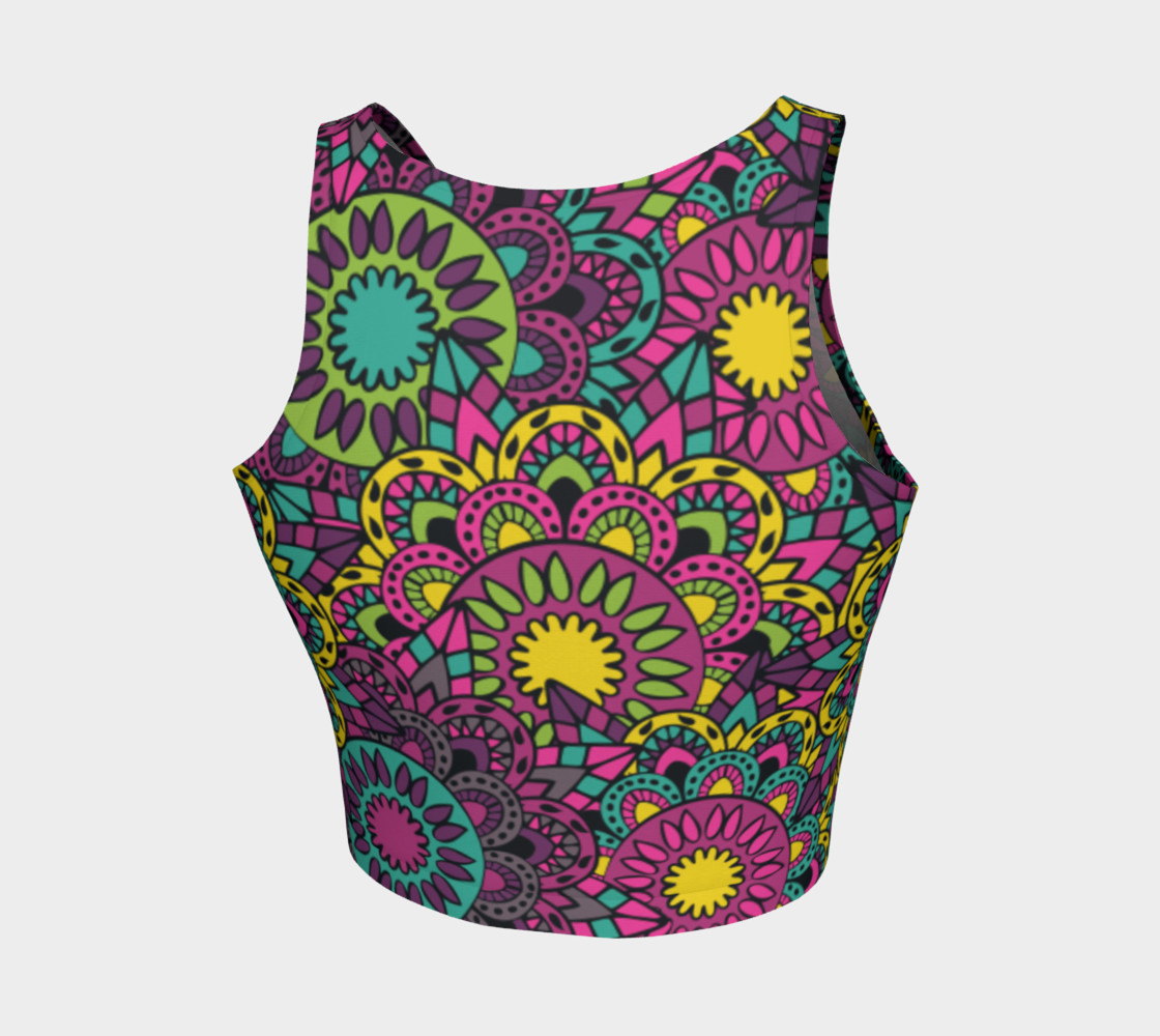 Floral Energy Paisley Crop Top preview #2