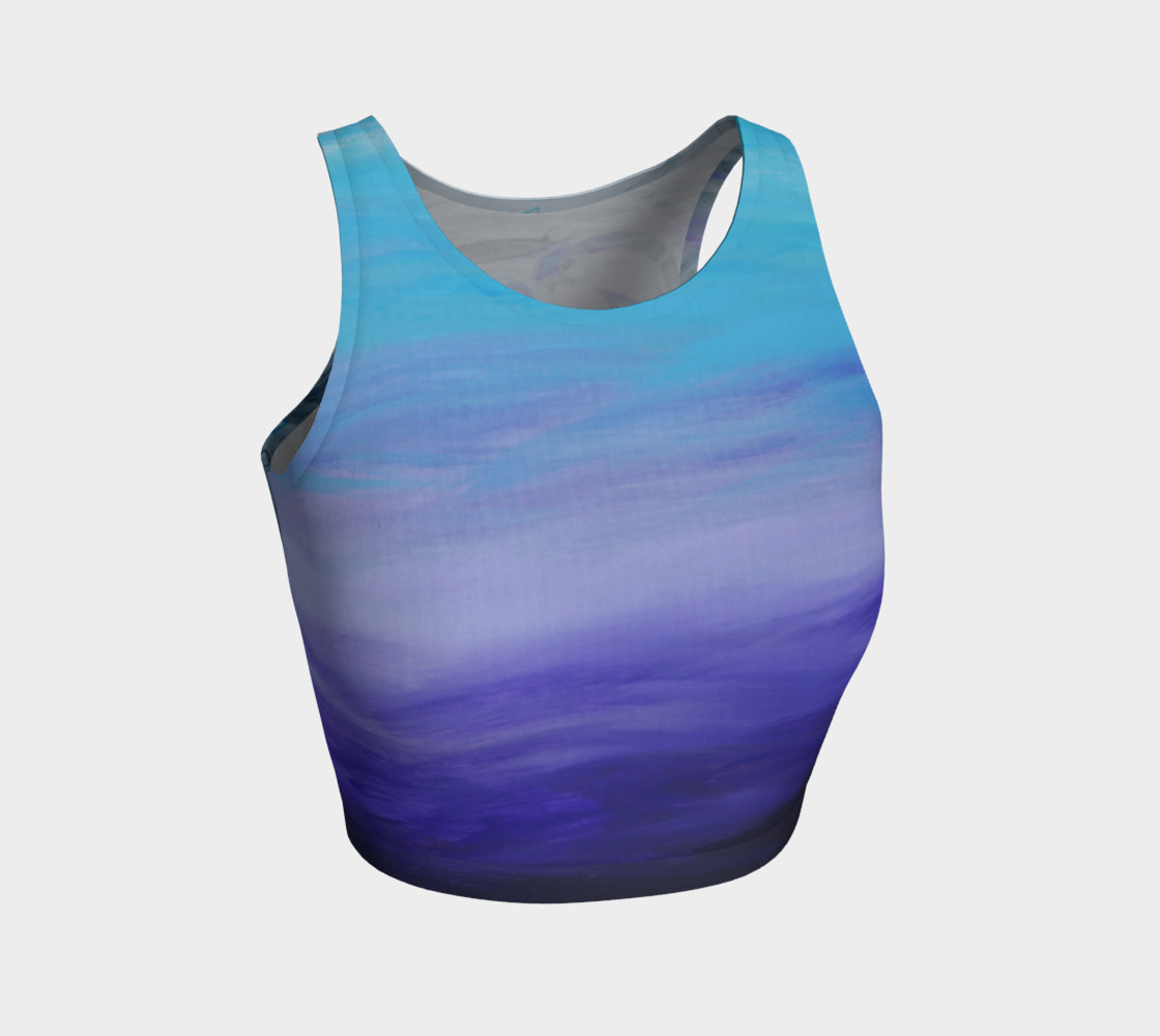 Blue Viking Dragon Athletic Crop Top preview #1