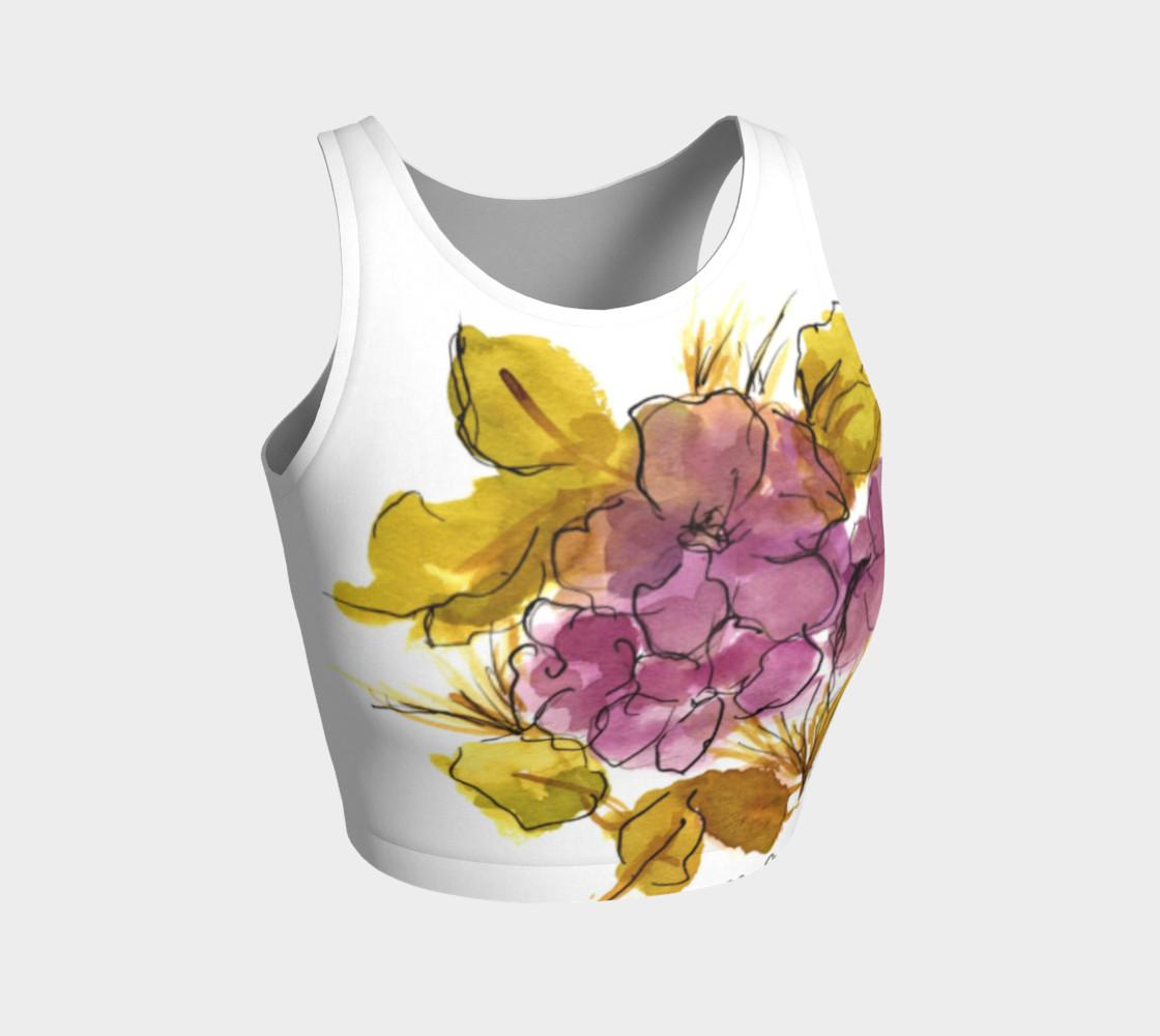 pink flower crop top preview #1