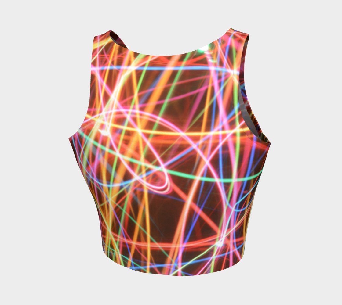 Christmas Light Trails Athletic Crop Top preview #2