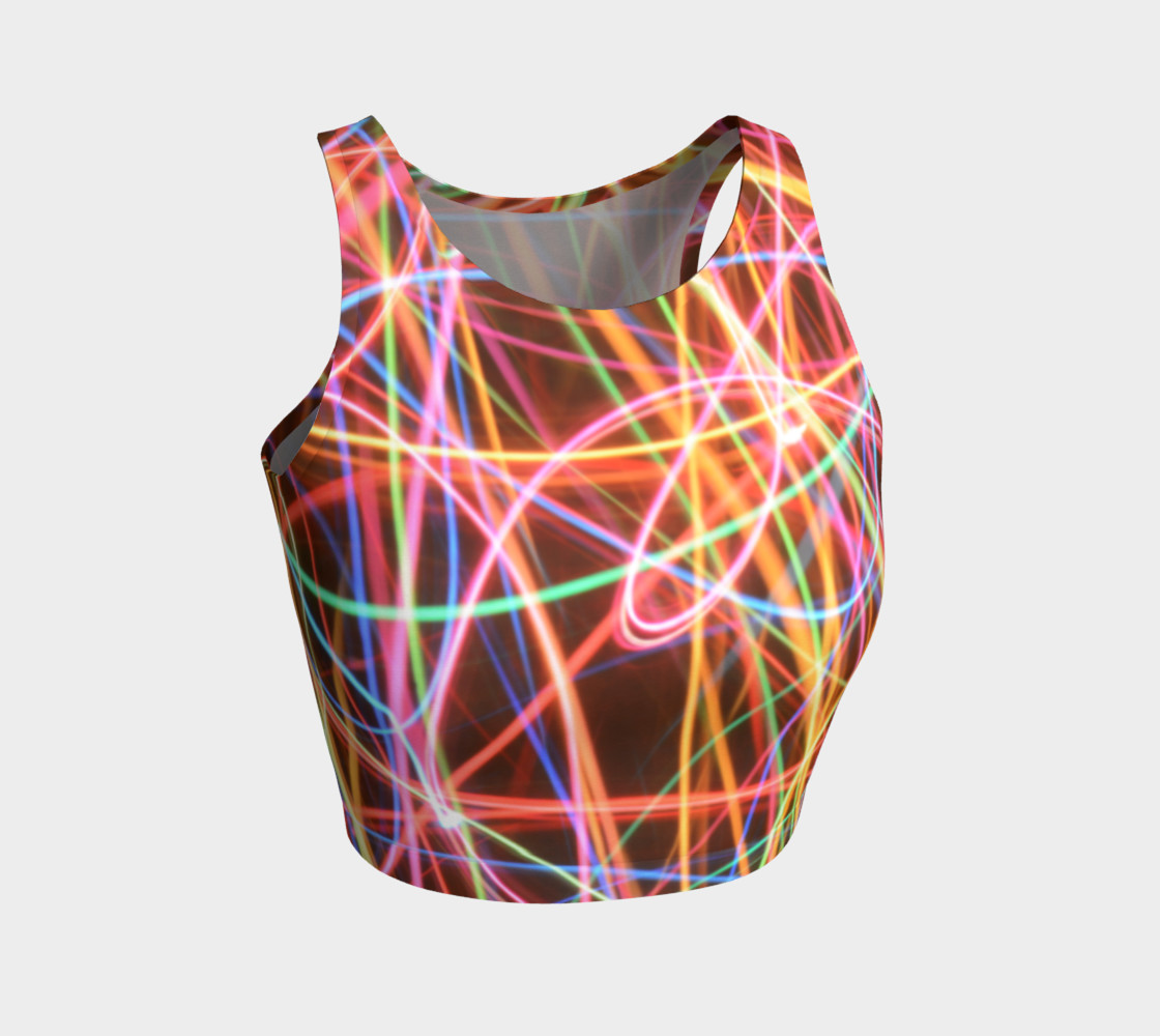 Christmas Light Trails Athletic Crop Top preview #1