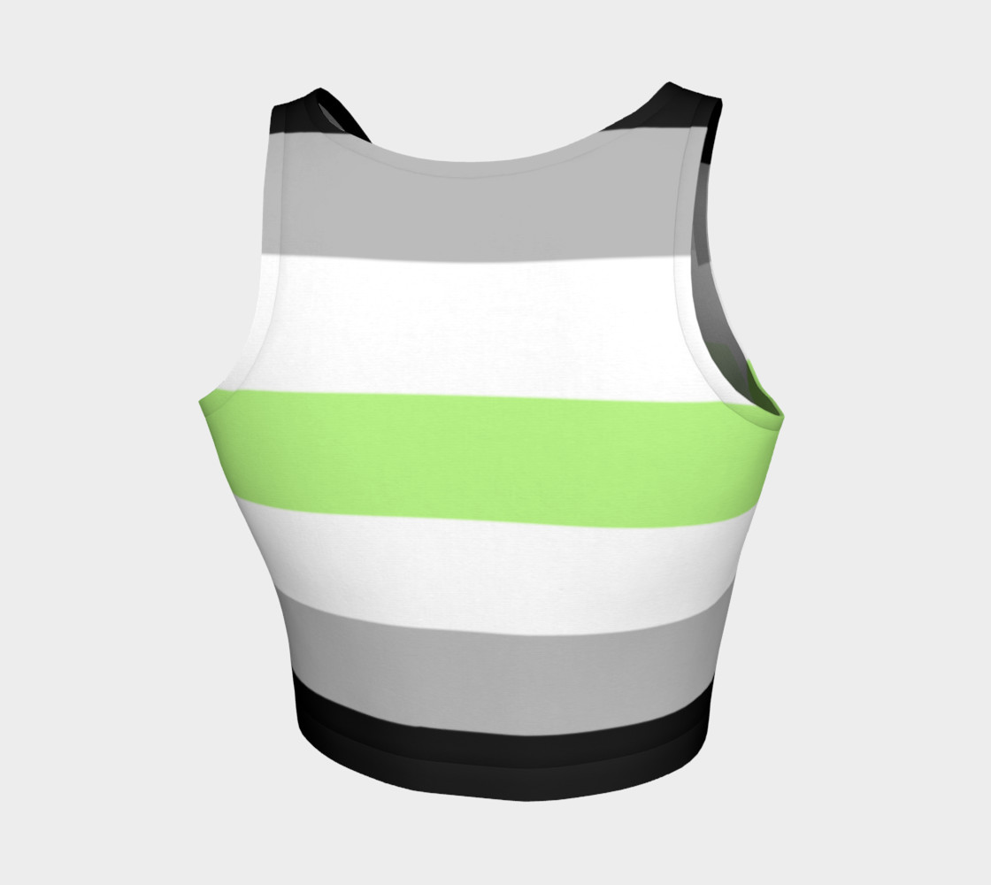 Age Stripes Athletic Crop Top black grey white green preview #2