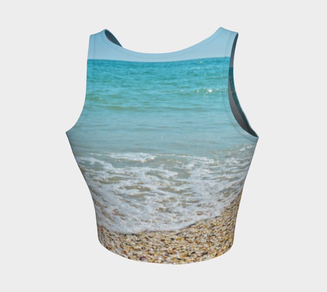 I Love The Beach Athletic Crop Top preview #2