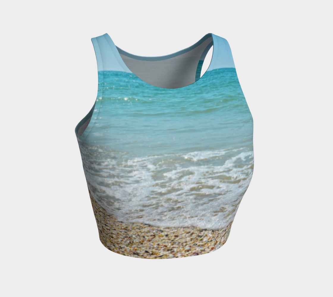 I Love The Beach Athletic Crop Top preview #1