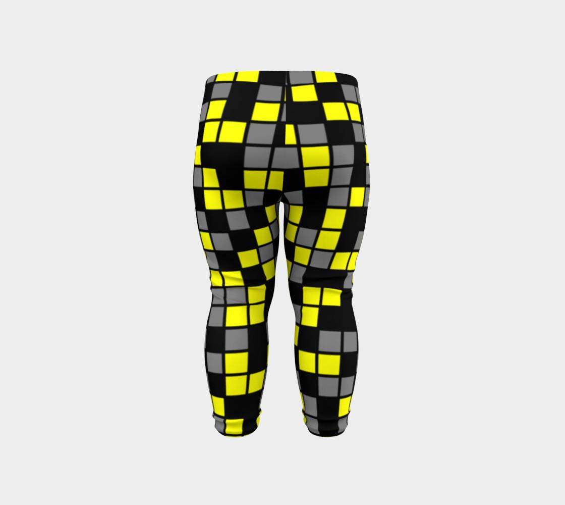 Aperçu de Yellow, Black, and Medium Grey Random Mosaic Squares #6