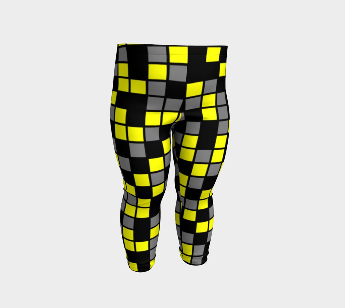 Aperçu de Yellow, Black, and Medium Grey Random Mosaic Squares #2