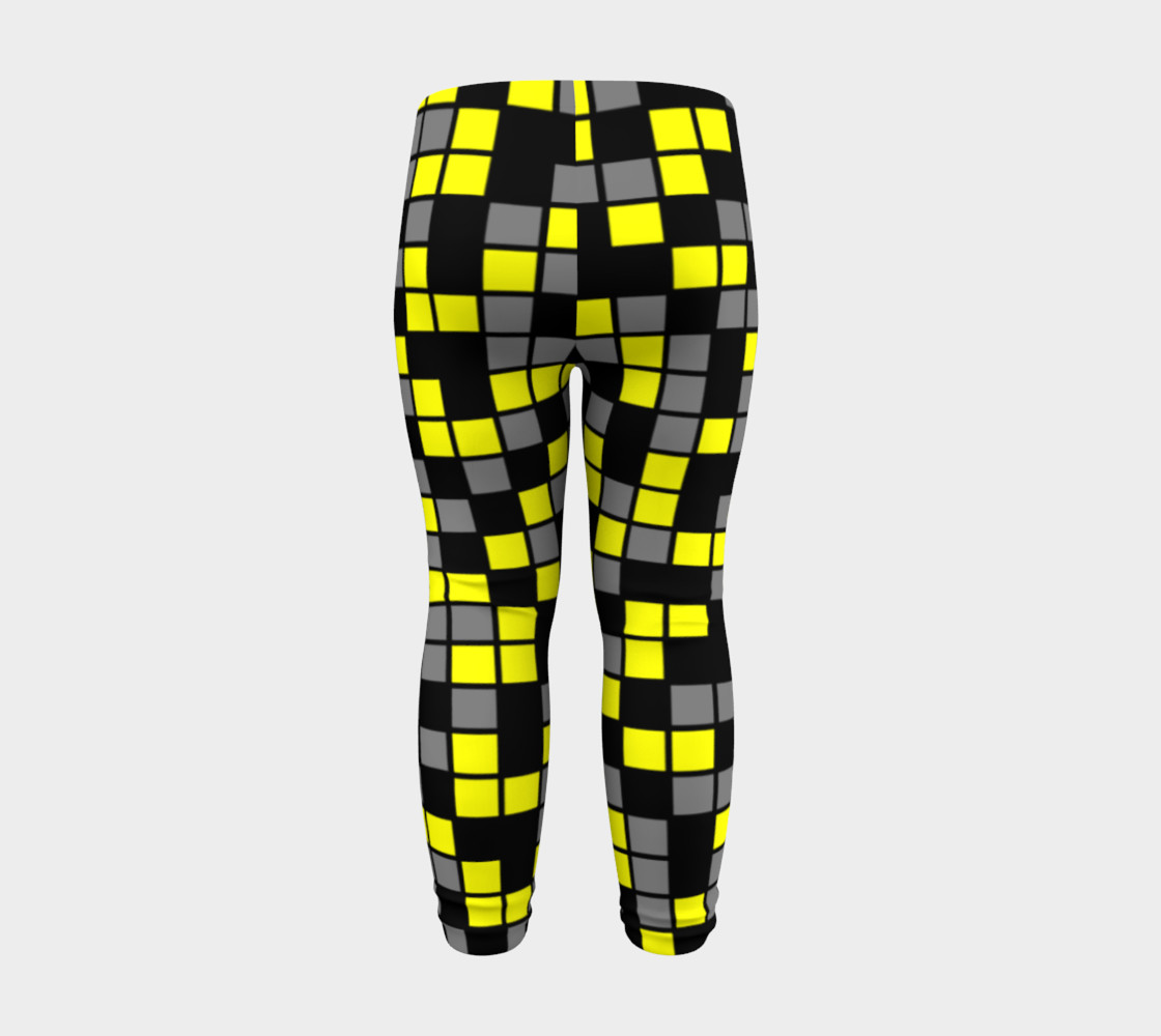 Aperçu de Yellow, Black, and Medium Grey Random Mosaic Squares #8