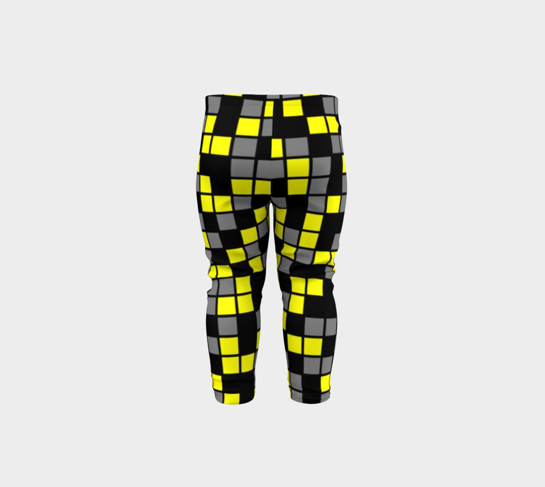 Aperçu de Yellow, Black, and Medium Grey Random Mosaic Squares #5