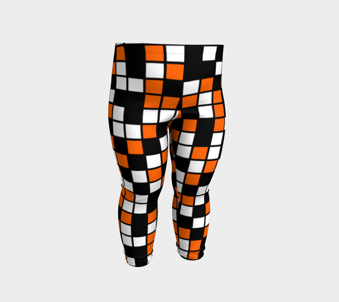 Orange, Black, and White Random Mosaic Squares preview #2