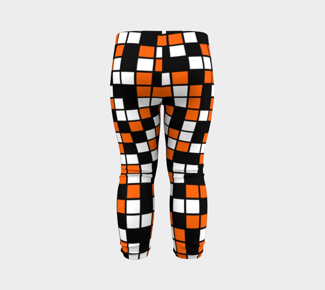 Aperçu de Orange, Black, and White Random Mosaic Squares #7