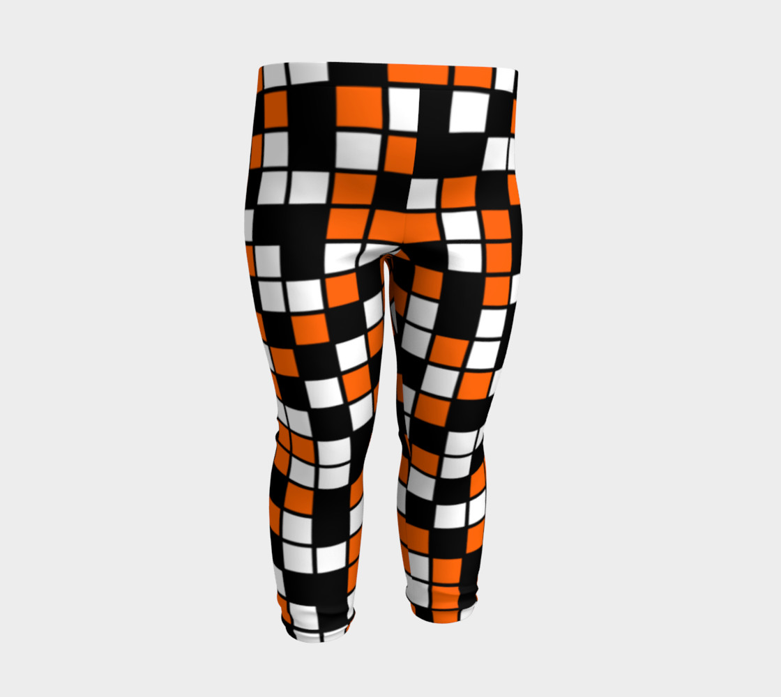 Orange, Black, and White Random Mosaic Squares preview #3
