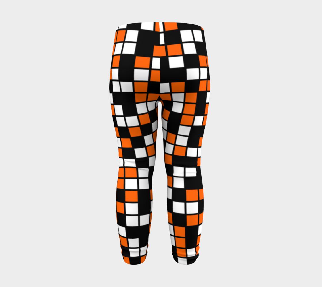 Aperçu de Orange, Black, and White Random Mosaic Squares #8
