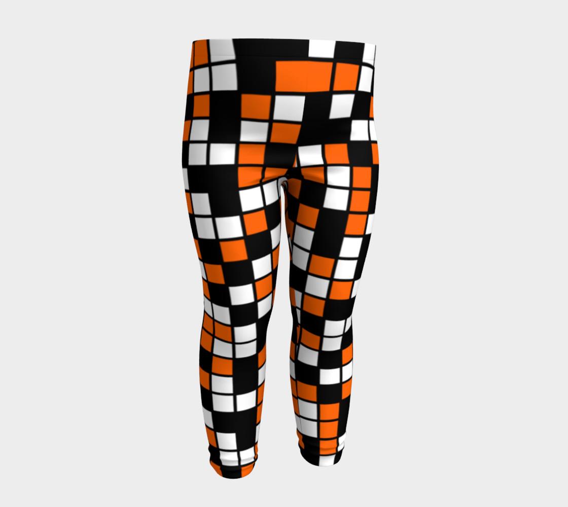 Aperçu de Orange, Black, and White Random Mosaic Squares #4