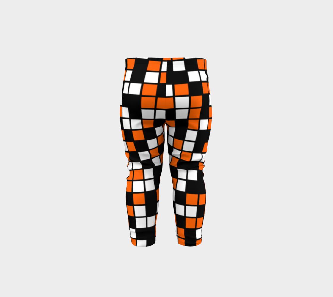 Orange, Black, and White Random Mosaic Squares preview #5