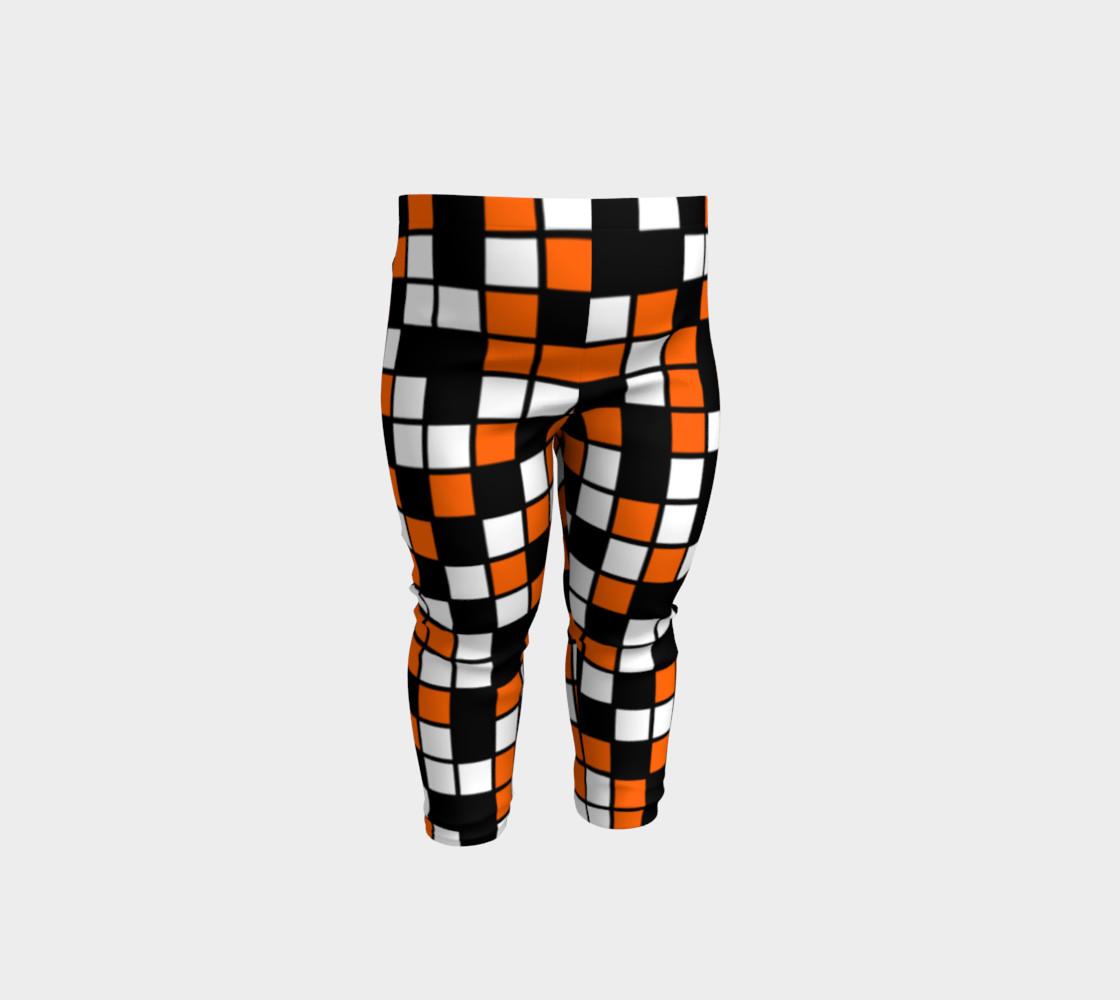 Aperçu de Orange, Black, and White Random Mosaic Squares #1