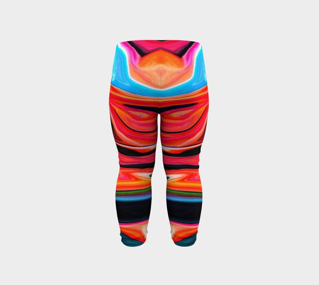 Aperçu de Tigerlily abstract baby leggings #6
