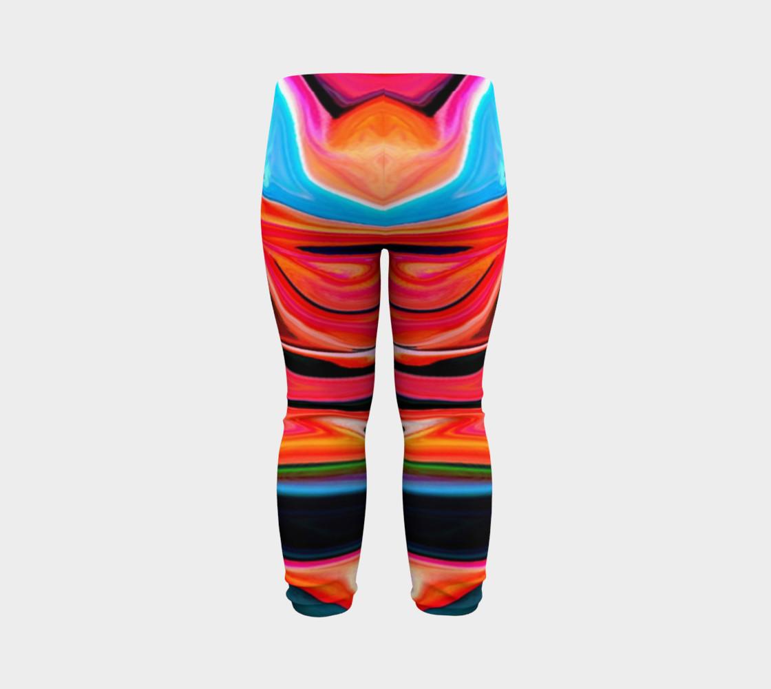 Aperçu de Tigerlily abstract baby leggings #7
