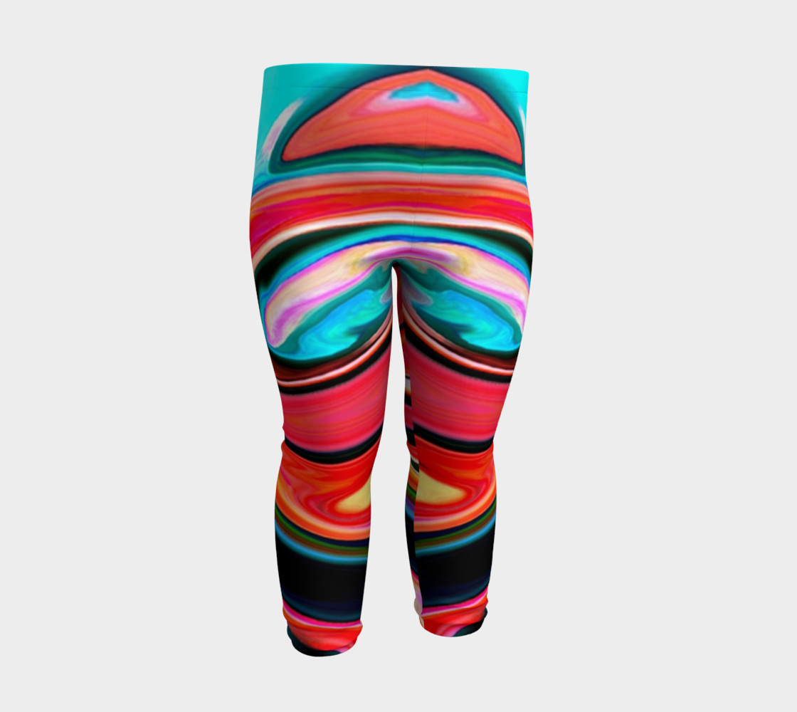 Aperçu de Tigerlily abstract baby leggings #3