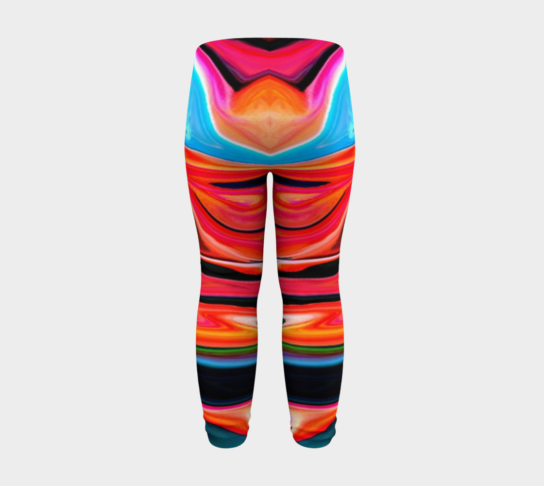 Aperçu de Tigerlily abstract baby leggings #8
