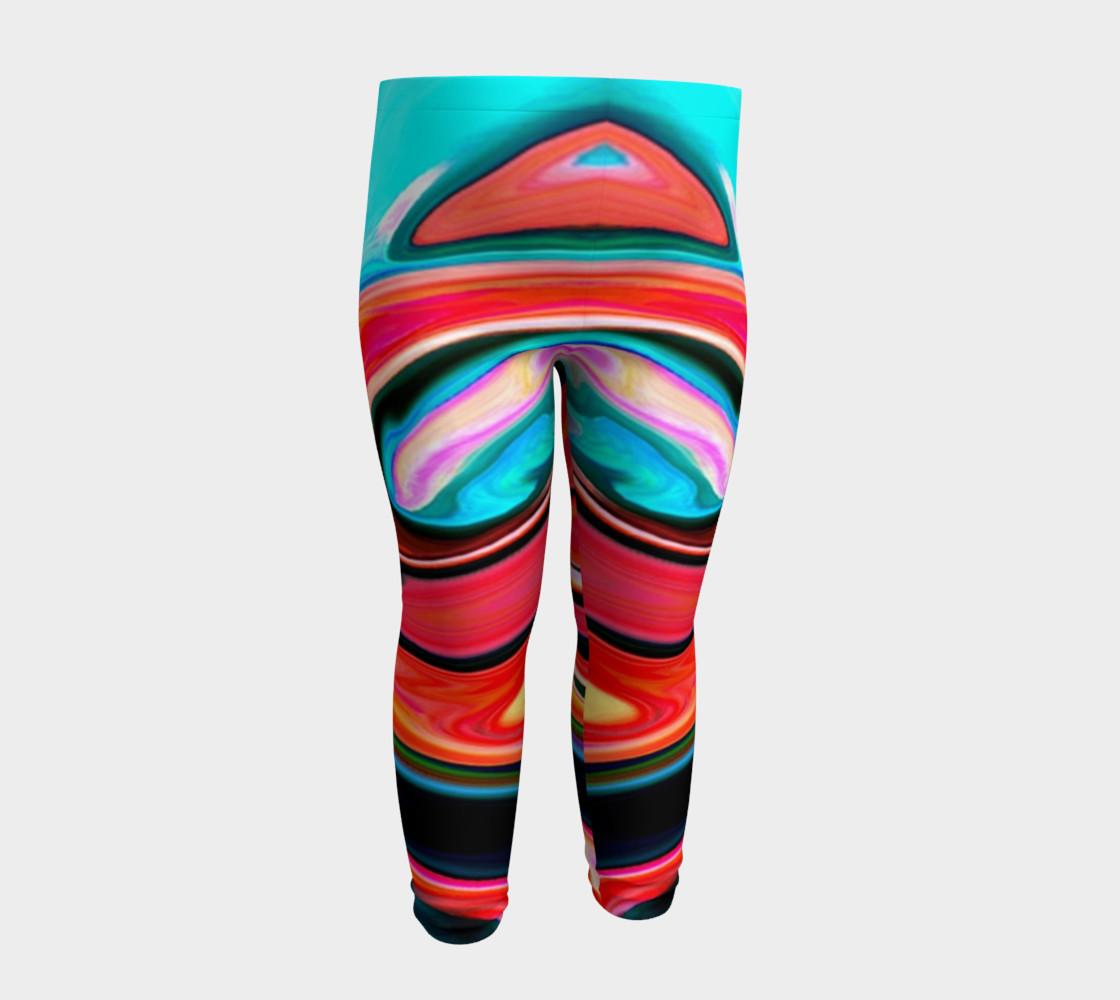 Aperçu de Tigerlily abstract baby leggings #4