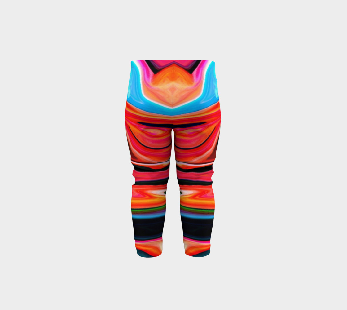 Aperçu de Tigerlily abstract baby leggings #5