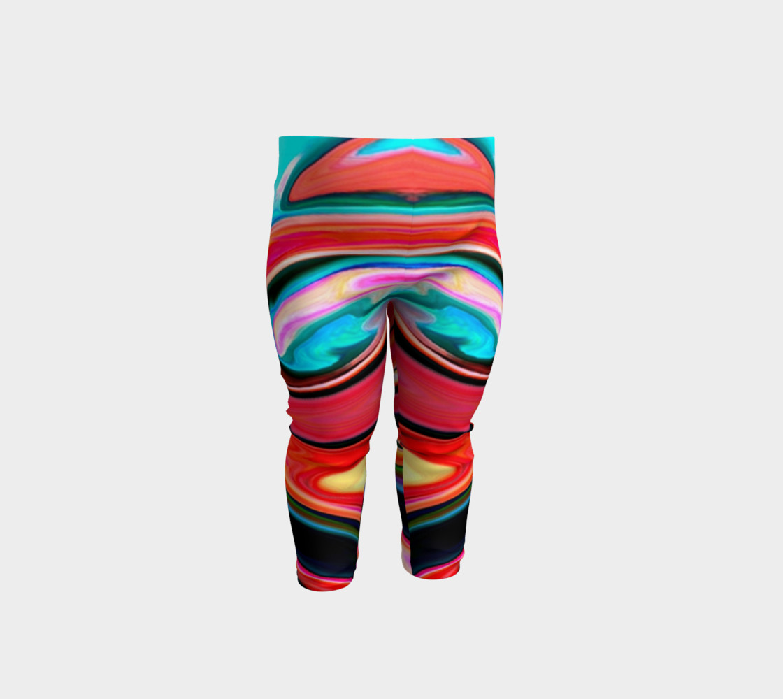 Aperçu de Tigerlily abstract baby leggings #1