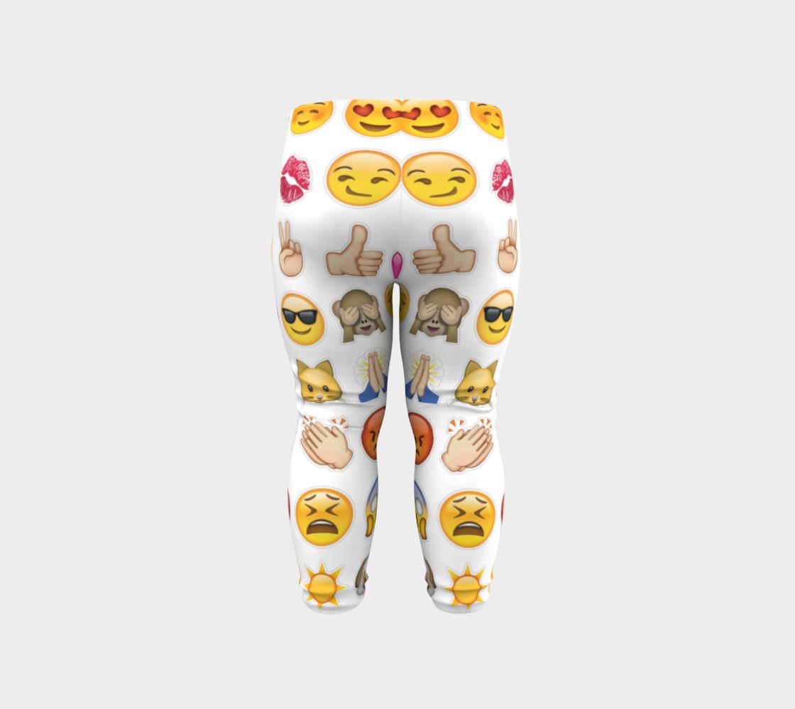 emoji baby leggings preview #6