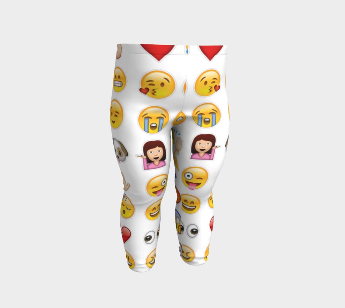 emoji baby leggings preview #2