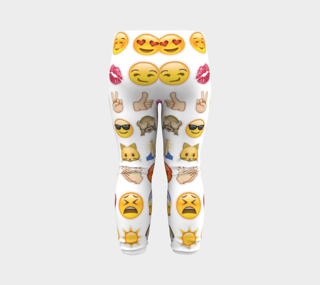 emoji baby leggings preview #7