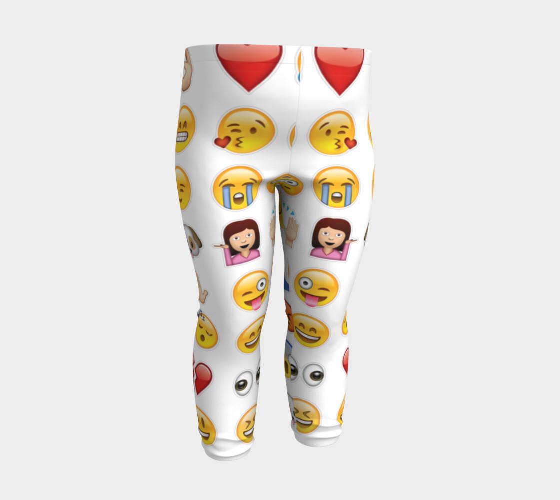 emoji baby leggings preview #3