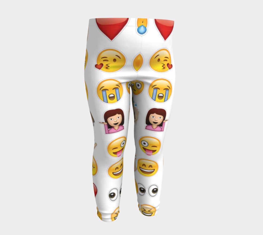 emoji baby leggings preview #4