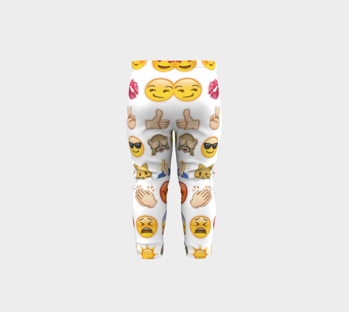 emoji baby leggings preview #5