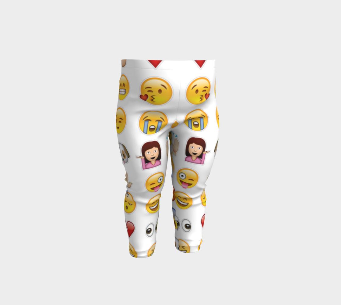 emoji baby leggings preview #1