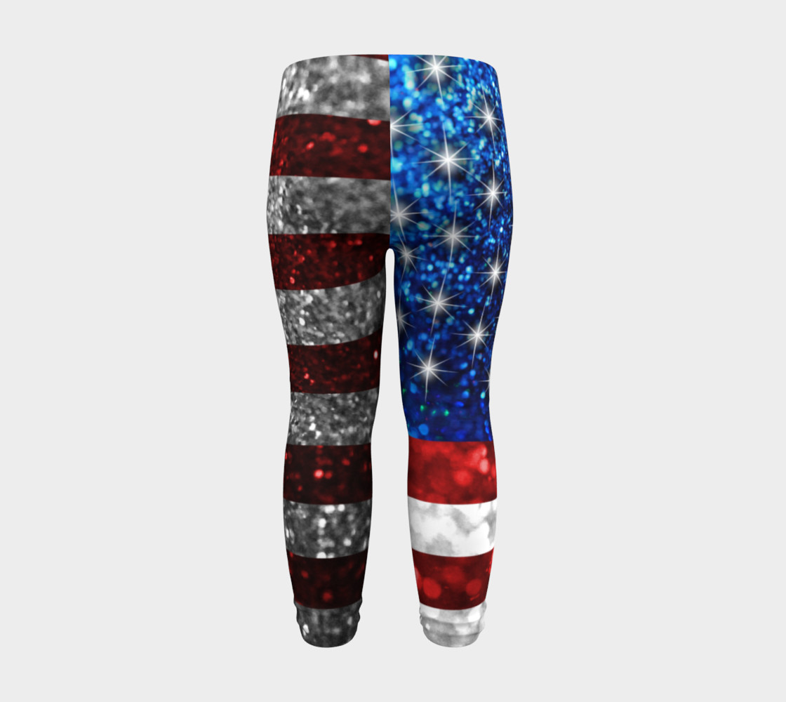 American Flag in Glitter Baby Leggings preview #8