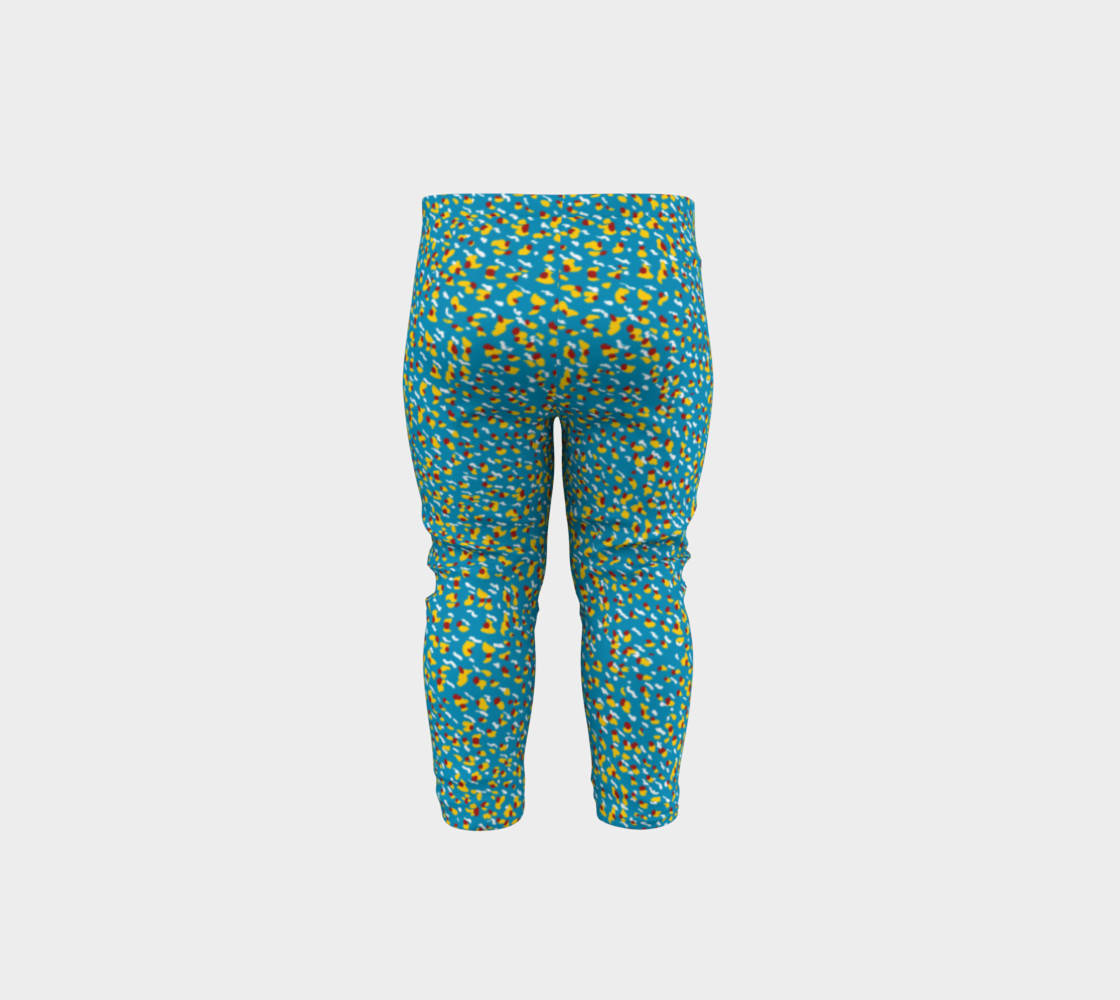 Floral Wave Toddler Leggings preview #5