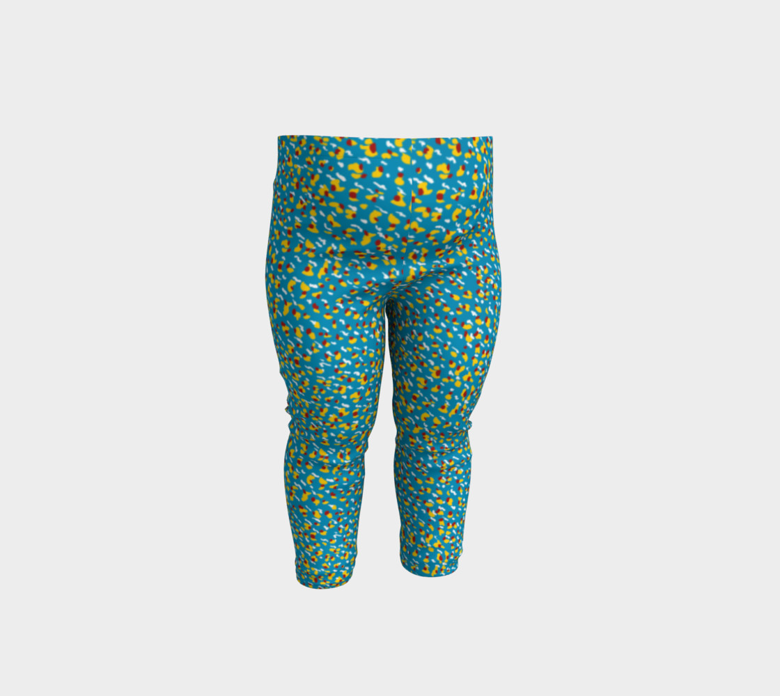 Floral Wave Toddler Leggings preview #1