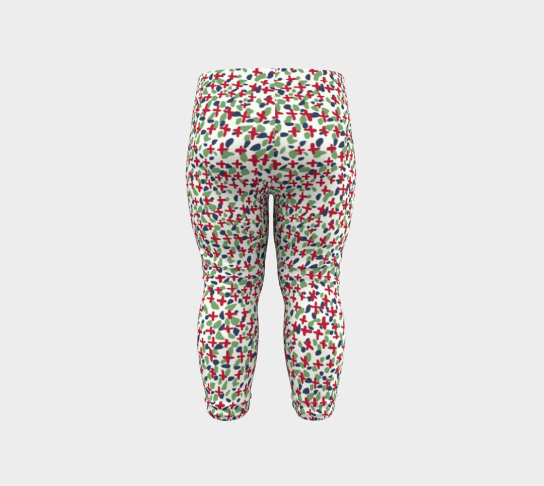 Messy Floral Toddler Leggings preview #6